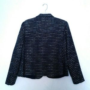 Liz Claiborne Jackets & Coats - Blue Tweed Jacket Liz Claiborne size 14